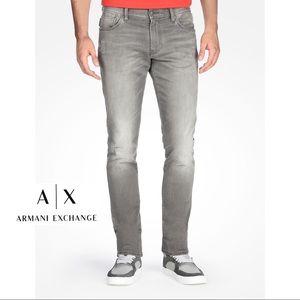Armani Exchange men gray skinny jeans size 30